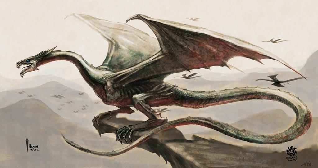 Dragon At The Cliff Artwork Of Tsolmonbayar
