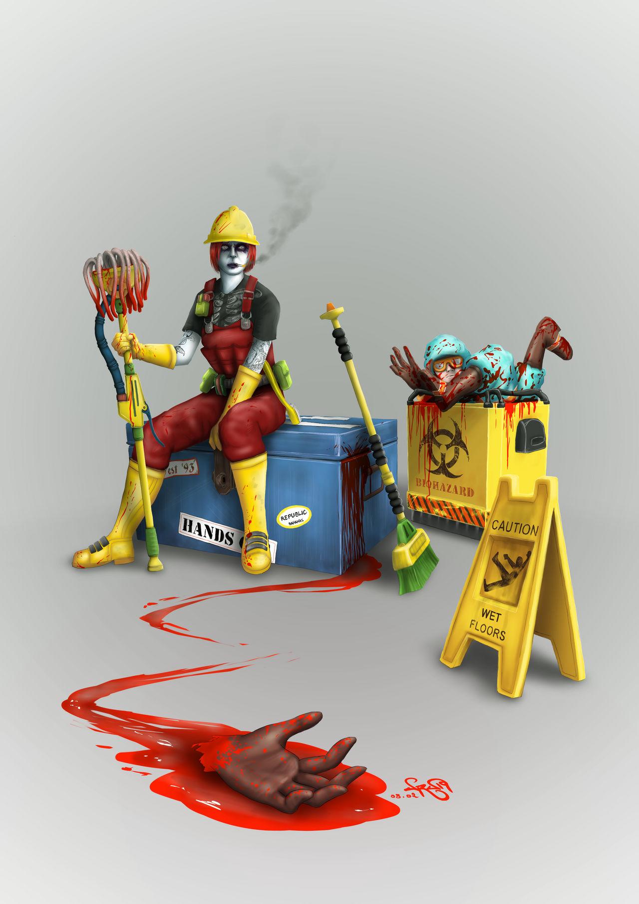 Psycho Janitor by devil-urumi on DeviantArt
