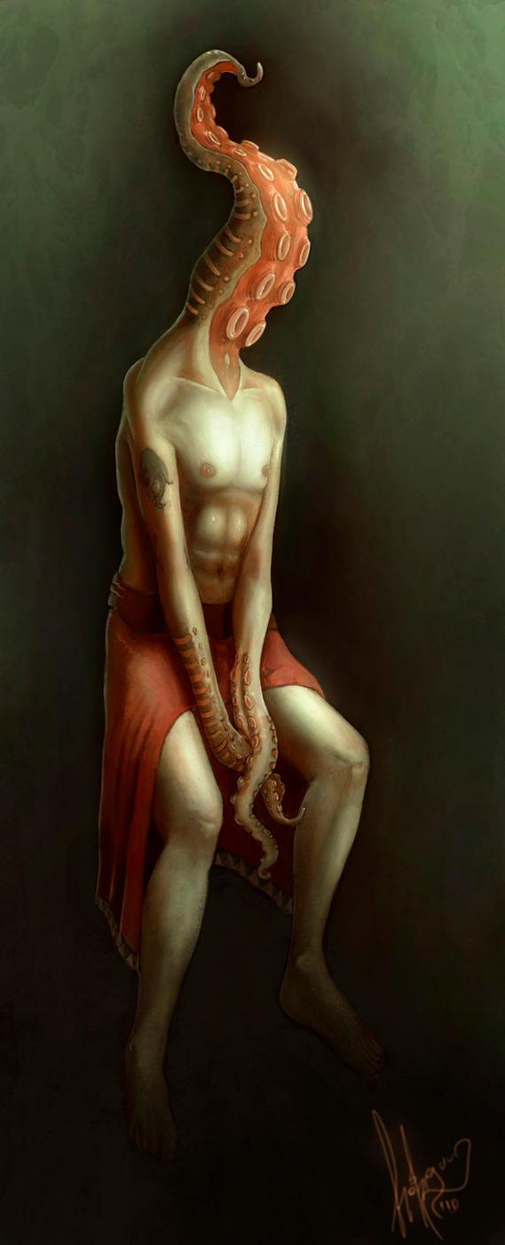 Cthulhu Worshiper by esteban-art