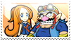 Wario x Mona stamp by ChickTristen94