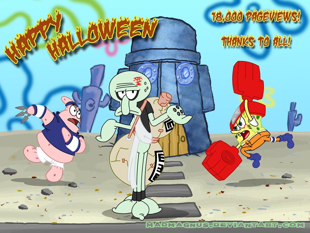 Spongebob Ninja Pants 18,000pv by madmagnus