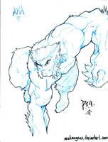 Commission Beast Xmen by madmagnus