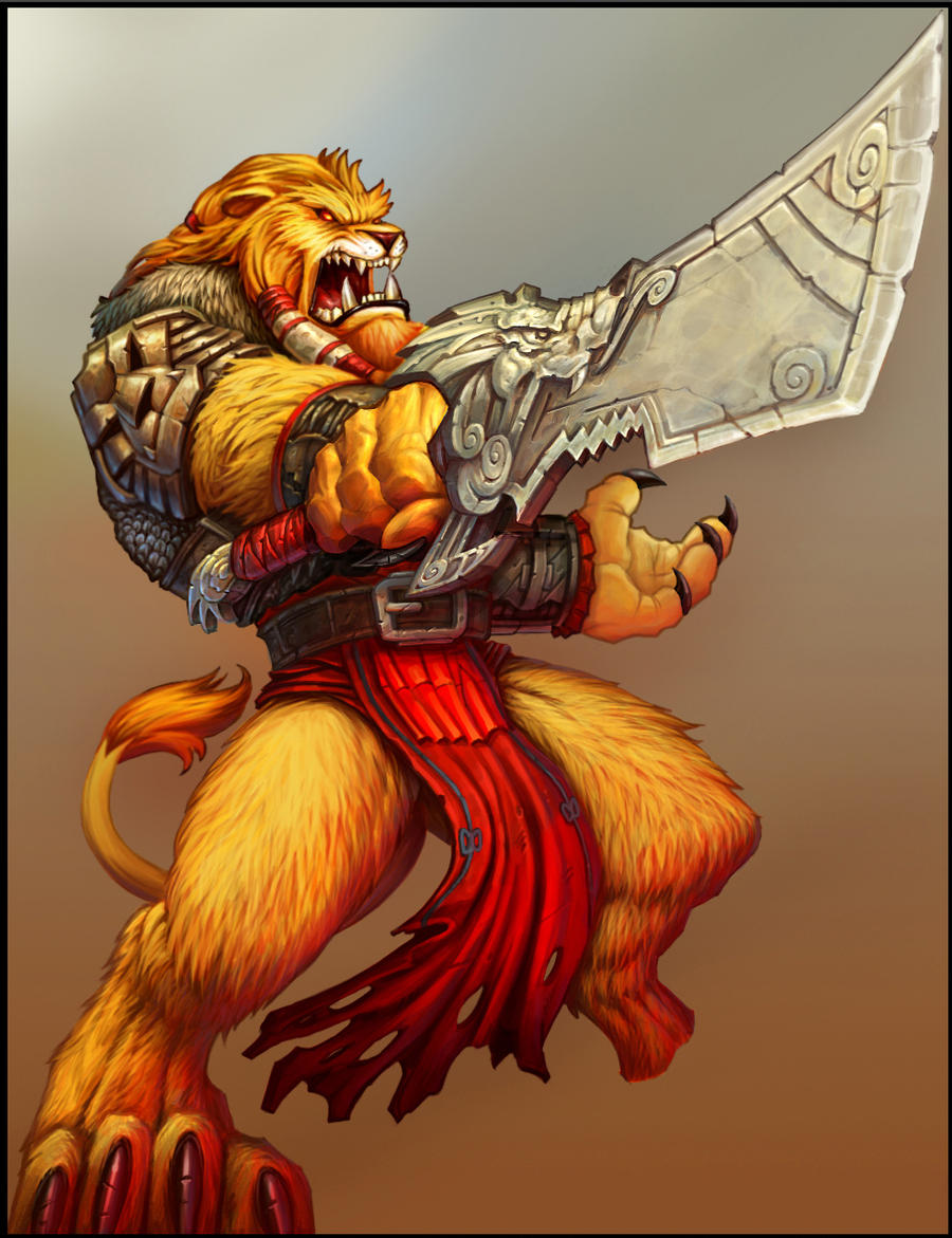 BurstOnline - War Mage - Lionkin Champion by madmagnus