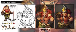 BurstOnline - War Mage - Dwarf Miner Female