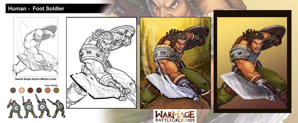 BurstOnline - War Mage - Human Foot Soldier by madmagnus
