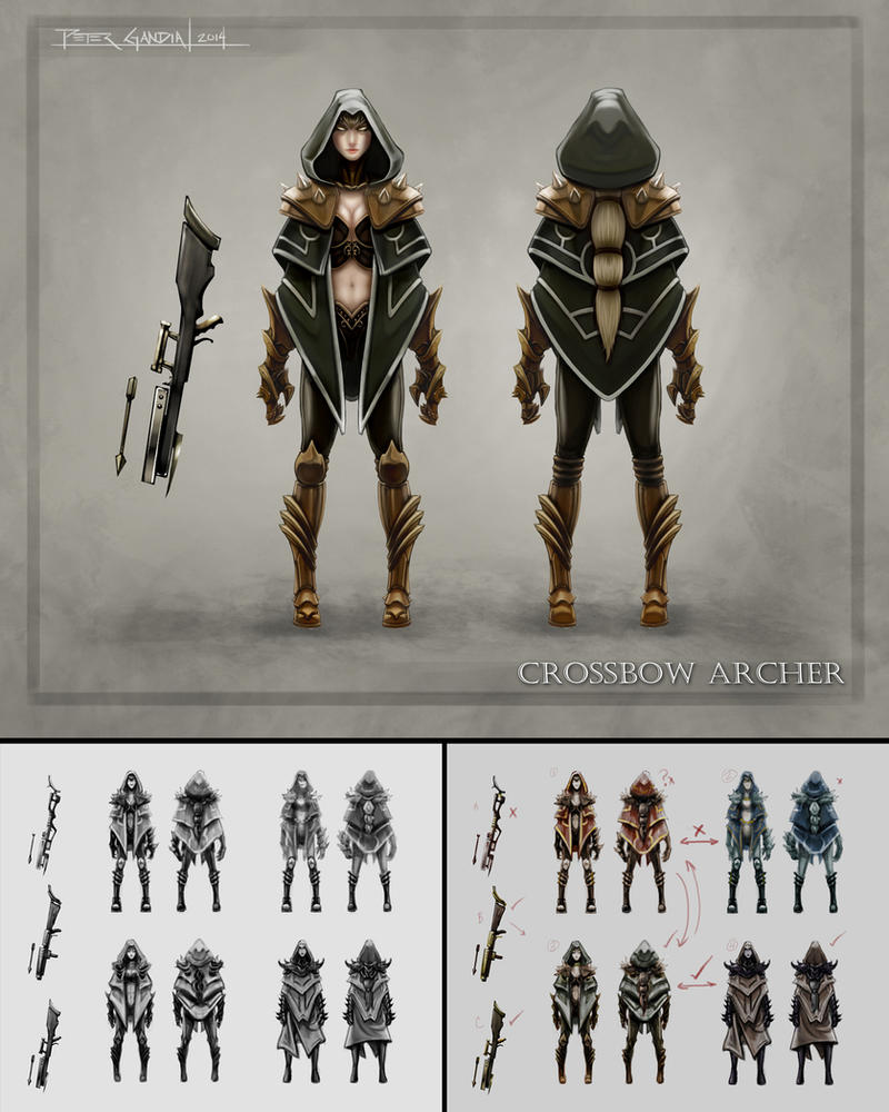 Female Character Design Tutorial : Character design crossbow archer by madmagnus on deviantart