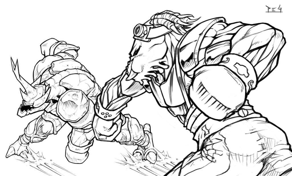 Obb vs Hugo sketch by madmagnus
