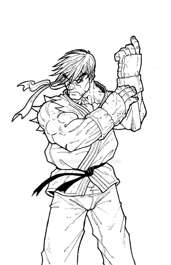 street fighter coloring pages - photo#26