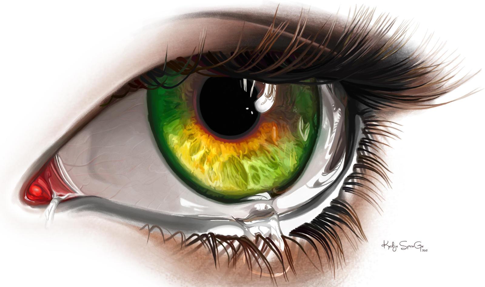 Digital painting Eye by keillly on DeviantArt