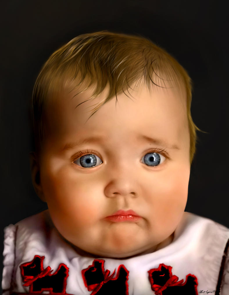 Digital Painting Baby Portrait by Jempelempots