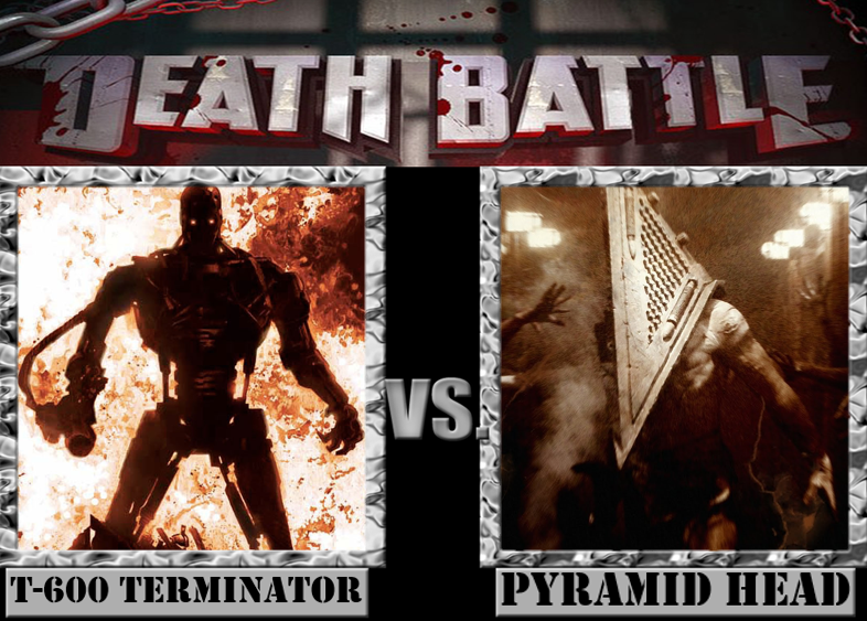 T-600 Terminator VS. Pyramid Head by Grimmjow-thesexta