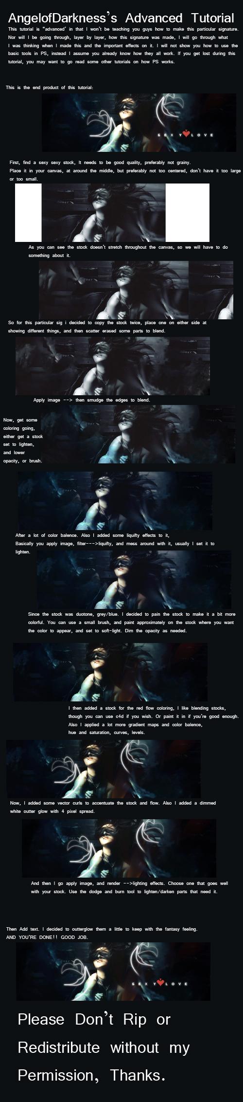 Angel of darkness signature tutorial