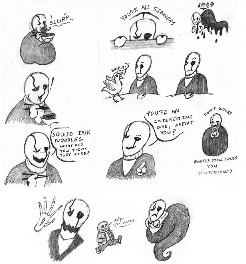 Gaster Noodles... er... Doodles 2 by Devon-Aster