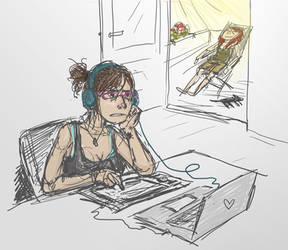 Homework on sunny days