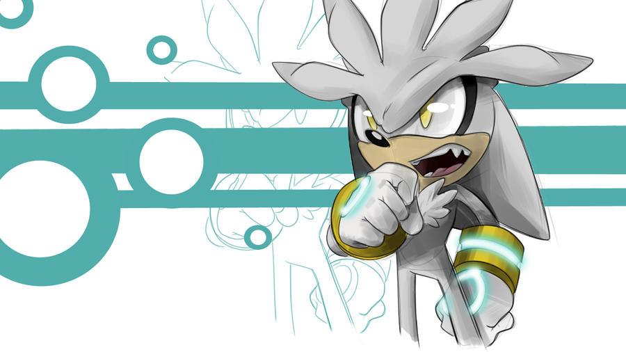 Silver the Hedgehog by RhythmAx