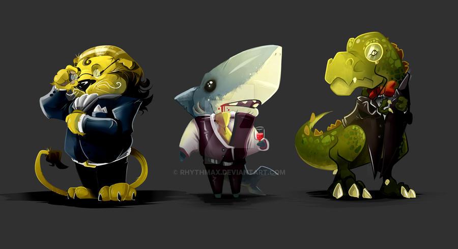 Classy Creatures by RhythmAx