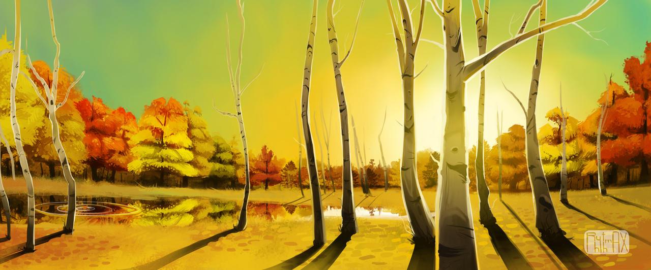 Fall Birch by RhythmAx