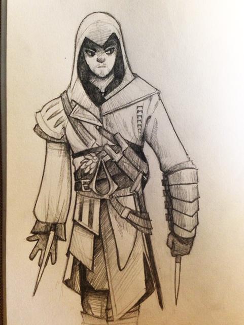 Assassin Sketch by RhythmAx