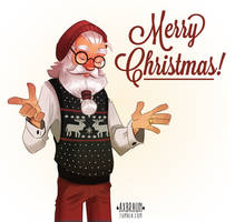 Hipster Claus by RhythmAx
