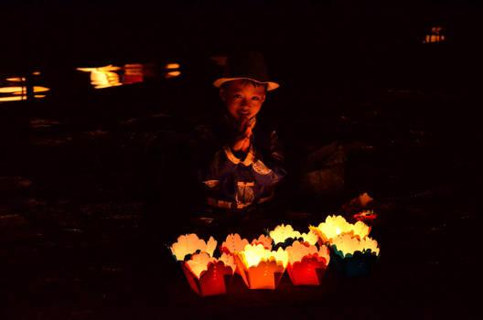 Boy with lanterns