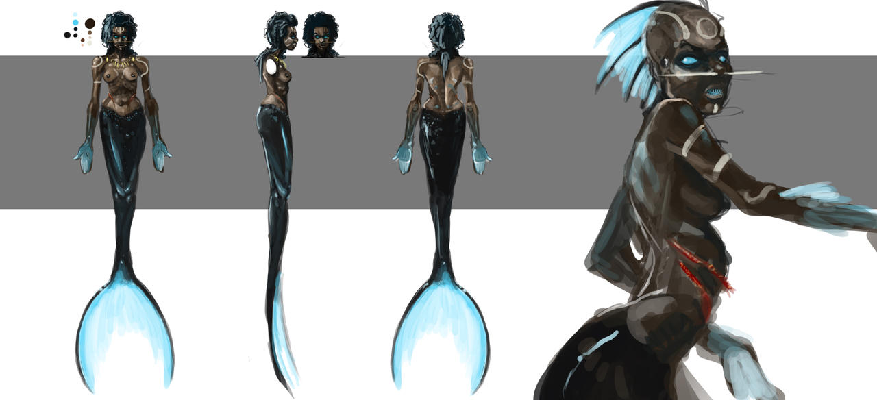Tribal Mermaid by Erebus88