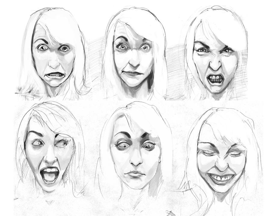 Facial expressions by erebus88