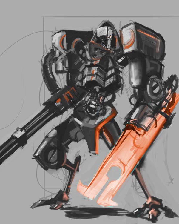 Battle Droid Sketch by Erebus88