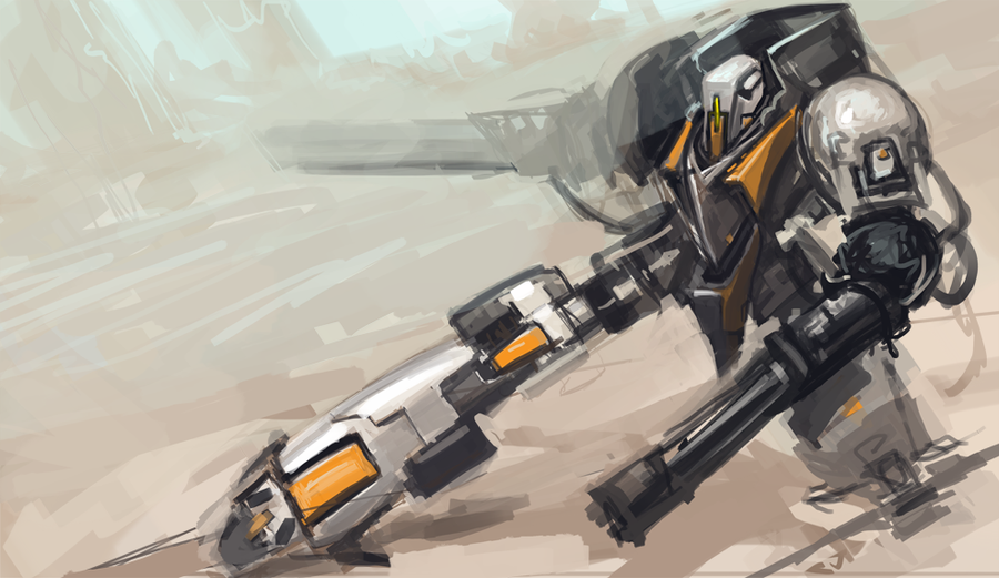 Mech Sketch by Erebus88