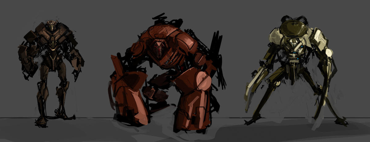 Mech Sketches by Erebus88