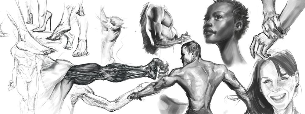 Misc Studies by Erebus88