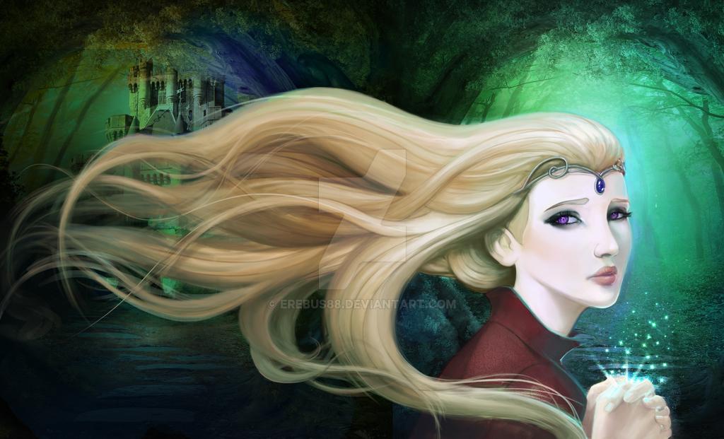 Amethysta -Throne of Lies Book Cover by Erebus88