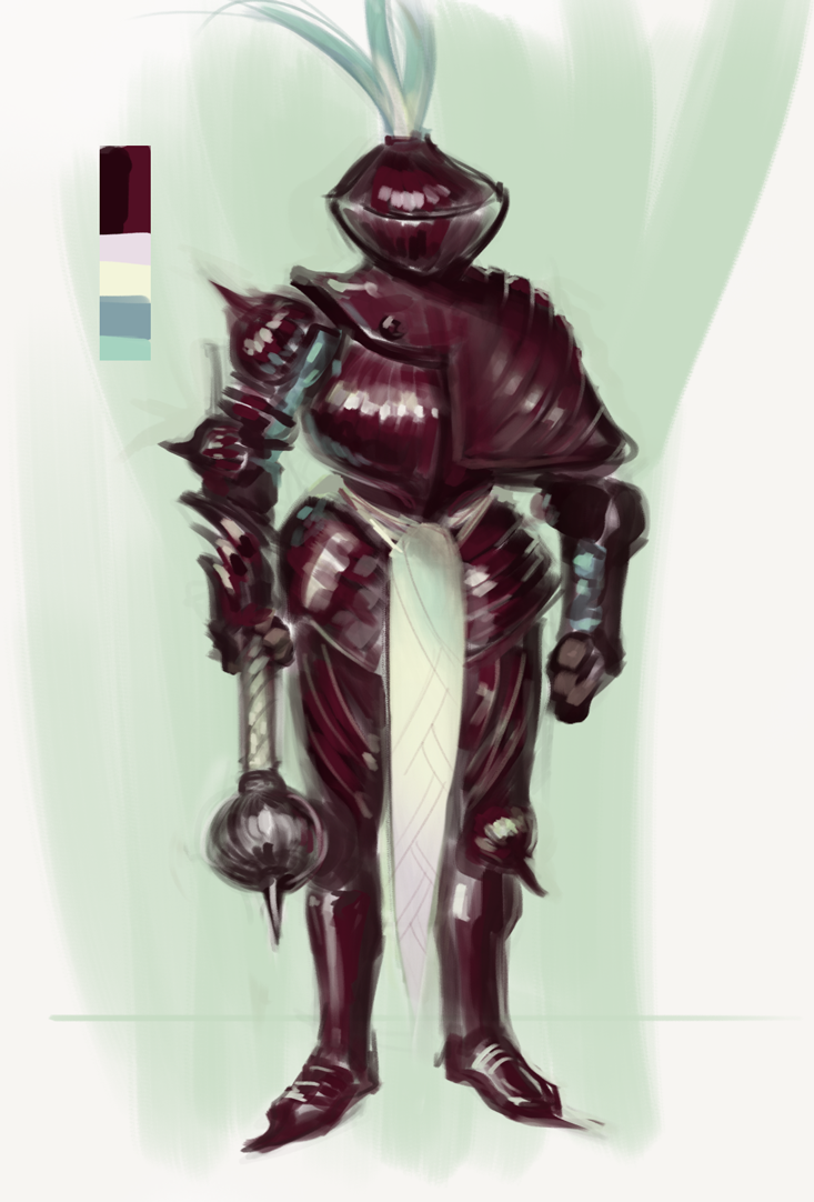 Red Onion Knight by Erebus88