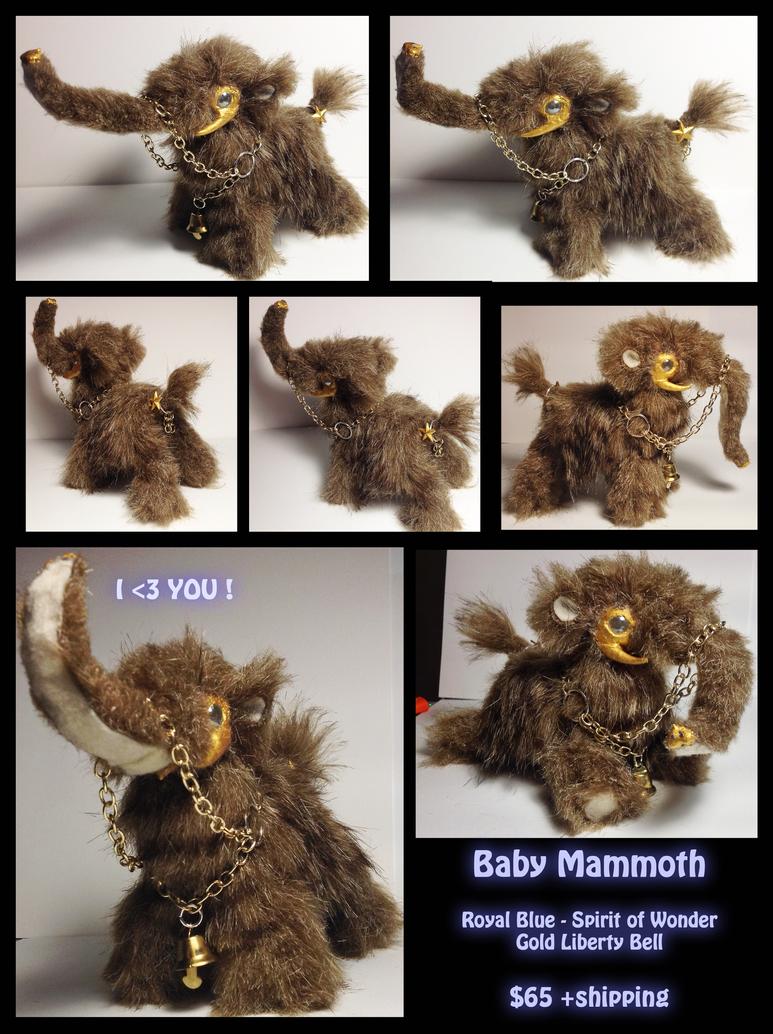 Baby Mammoth Spirit Carrier -Poseable OOAK ArtDoll by art-bin