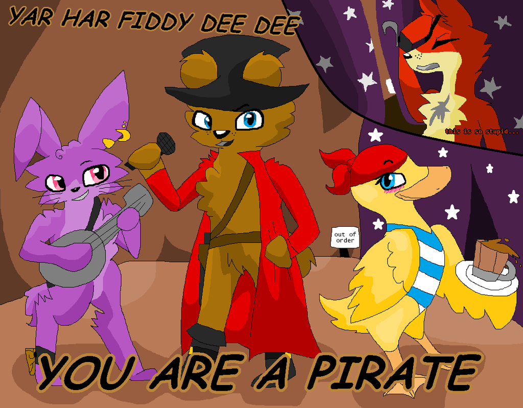You are a pirate fnaf by warriorcats125 on deviantart