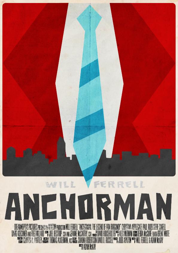 Anchorman Poster by W0op-W0op