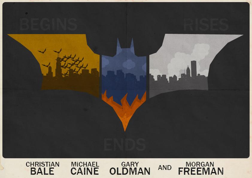 Batman (Nolan Trilogy) Poster by W0op-W0op