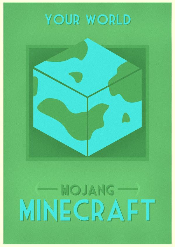 Minecraft Poster by W0op-W0op