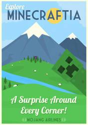 Minecraftia Travel Poster