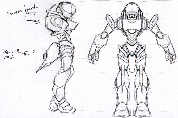 Mecha Game Concept Art: Mech by Garm-r