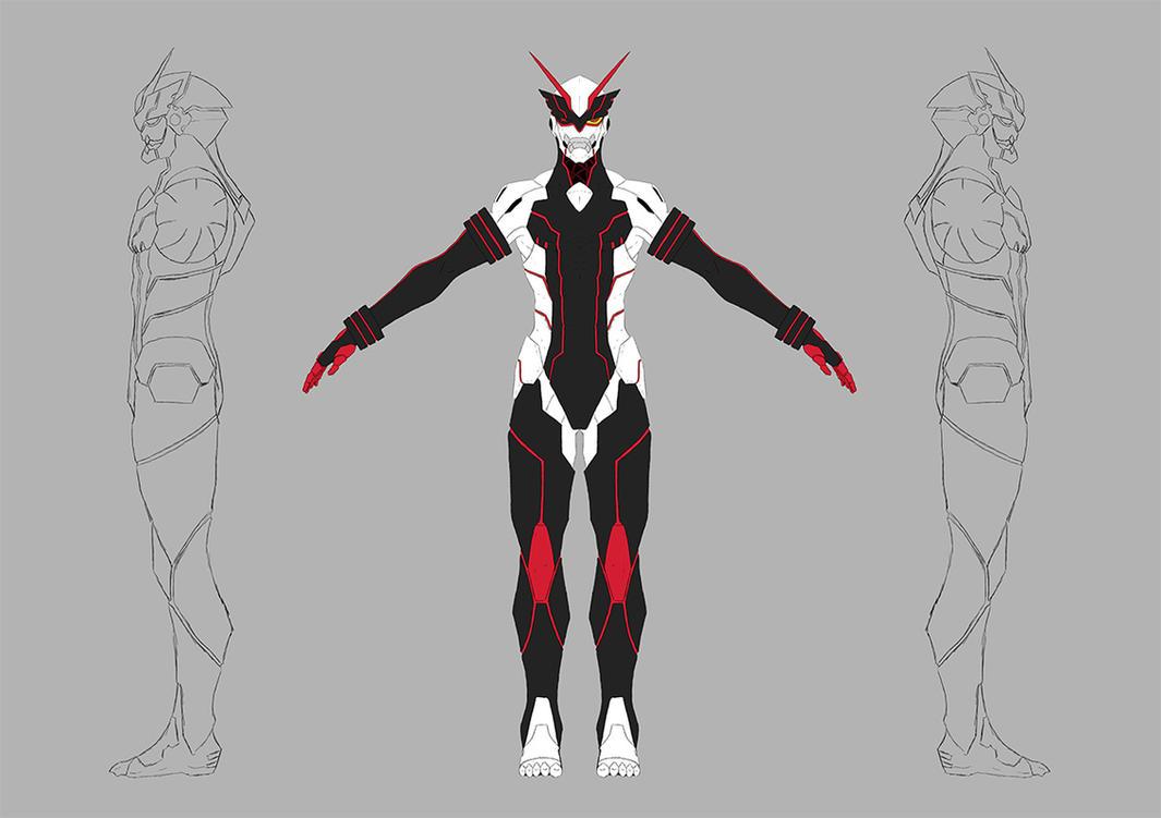 Senketsu - Human Form by Garm-r on DeviantArt