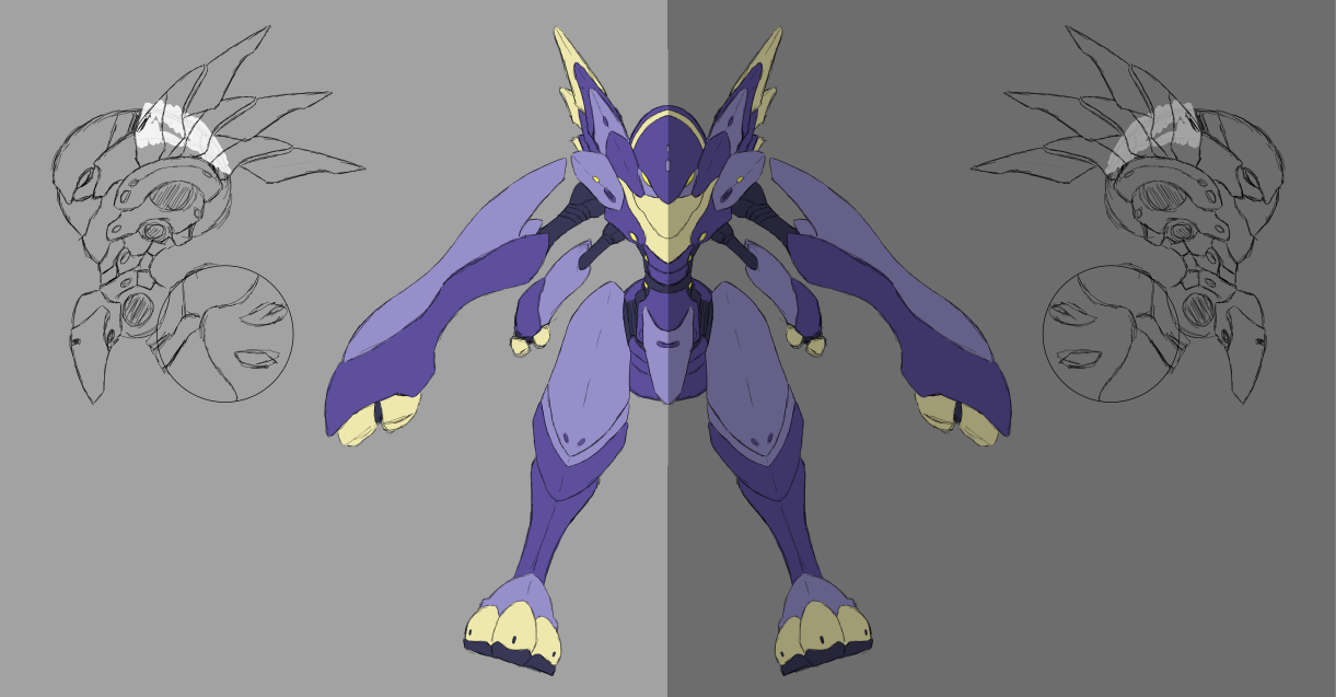 Harmor Orthographic WIP by Seig-Verdelet