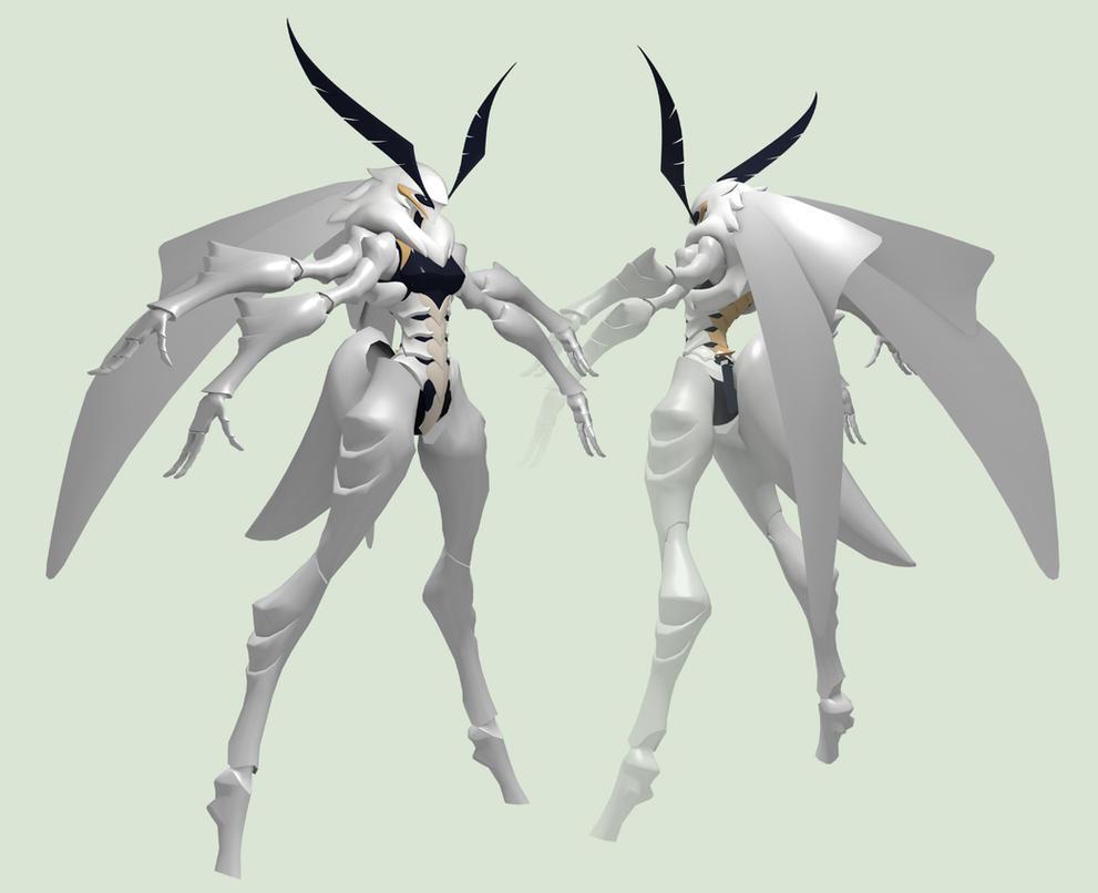 Laelynn - White Emine Moth - WIP 2 by Garm-r