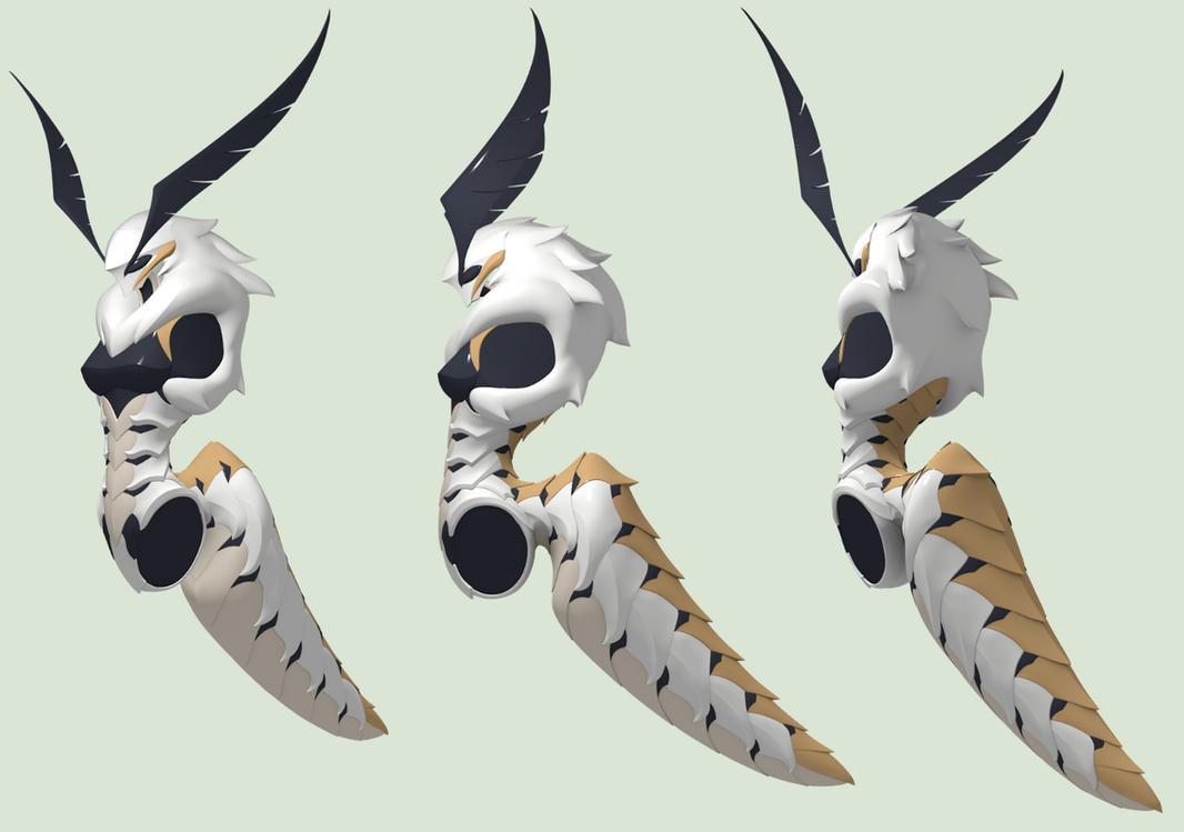Laelynn - White Emine Moth - WIP 3 by Garm-r