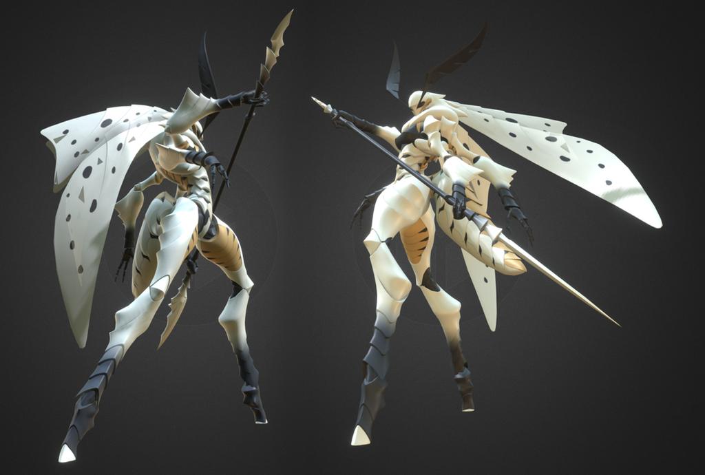 Laelynn - White Emine Moth by Garm-r