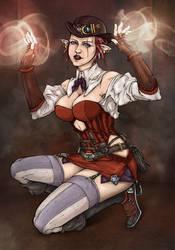 Steampunk fanart collaboration