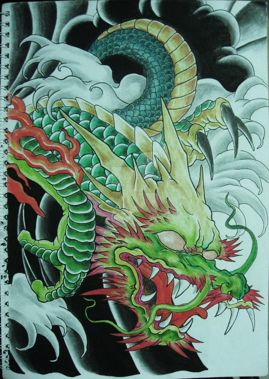 Japanese Hulk Dragon by parin81270024