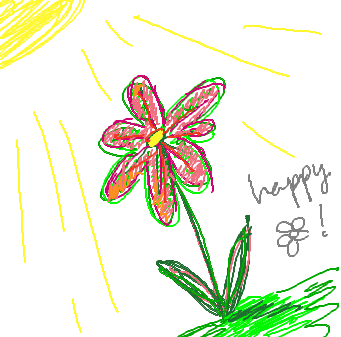 Happy Flower :v by intwo
