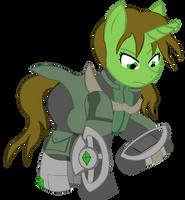 Emerald Flicker Fallout Equestria by RarityKaiba