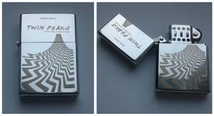 TWIN PEAKS - engraved lighter