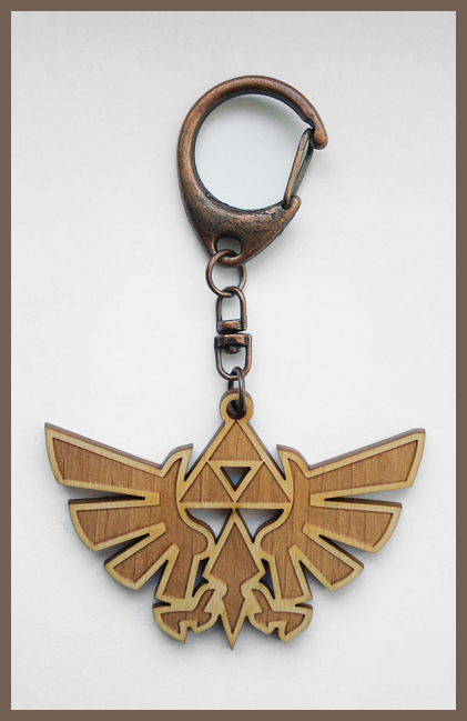LEGEND OF ZELDA - wood keyring by Piciuu